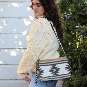 Vintage Southwestern Style Kilim Crossbody Bag